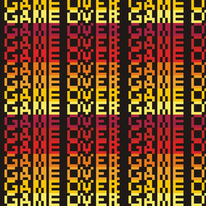 8-bit Game Over Firey