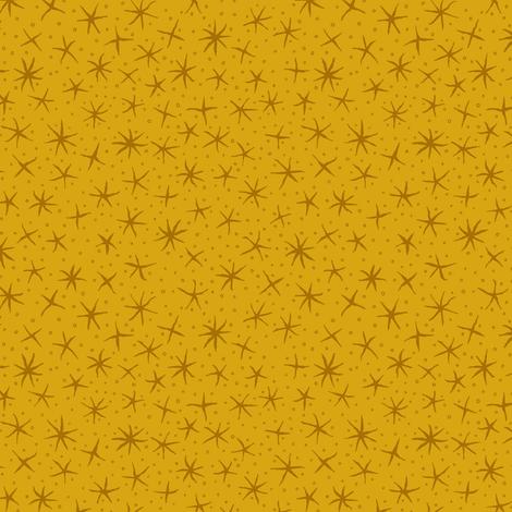 stellate whimsy - honey gold fabric by weavingmajor on Spoonflower - custom fabric