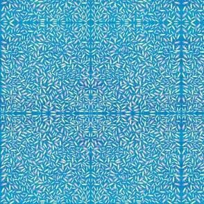 Blue ditsy crickets