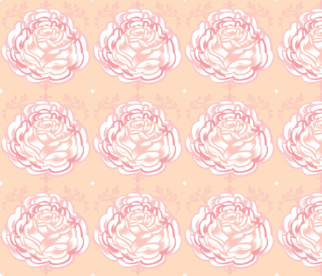 Rose Blossom 6 - in Sorbet fabric by drapestudio on Spoonflower - custom fabric