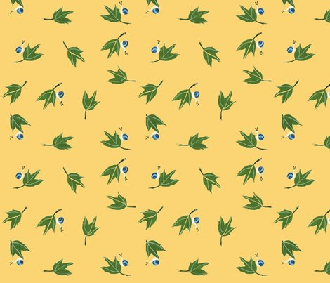 Rrrgreen_leaves_on_light_gold_background_with_blue_snails-1_shop_preview