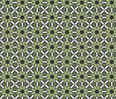 Emerald Green Irish Tile fabric by lauriekentdesigns on Spoonflower - custom fabric