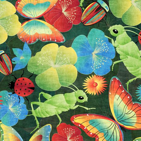 bugs' life fabric by kociara on Spoonflower - custom fabric