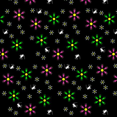 Cricket Flower Summer fabric by 13moons_design on Spoonflower - custom fabric