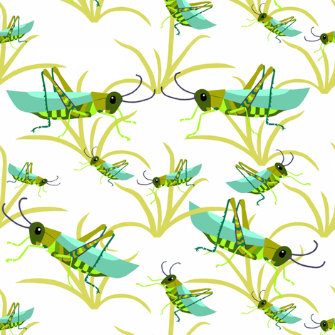 Hopping_in_the_grass fabric by alfabesi on Spoonflower - custom fabric