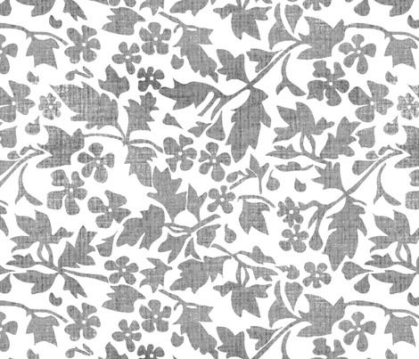 Silhouette Charcoal fabric by kristopherk on Spoonflower - custom fabric