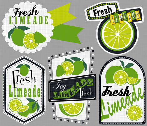 Julie's Limeade Labels fabric by juliesfabrics on Spoonflower - custom fabric