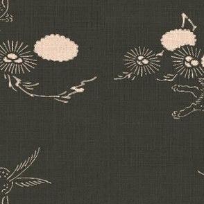 woodland hare - espresso/pink
