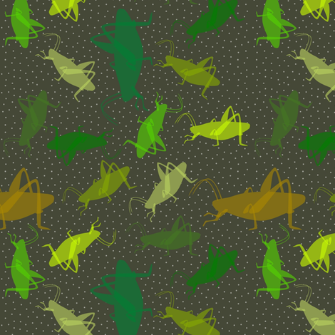 MidnightCricketPolka fabric by mrshervi on Spoonflower - custom fabric