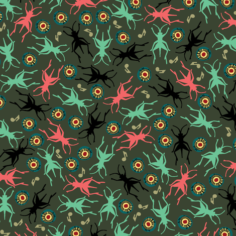 Lots O Crickets fabric by ravenous on Spoonflower - custom fabric