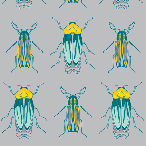 fireflly blues fabric by poppybasildesigns on Spoonflower - custom fabric