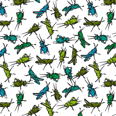 lucky crickets fabric by minimiel on Spoonflower - custom fabric