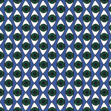 Eyes on blue fabric by susiprint on Spoonflower - custom fabric