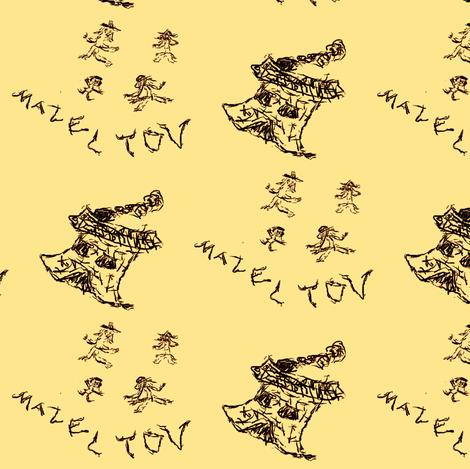 Mazel Tov! fabric by winterblossom on Spoonflower - custom fabric