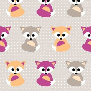 Baby foxes purple