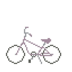 Passionately Purple Cross Stitch Bicycle