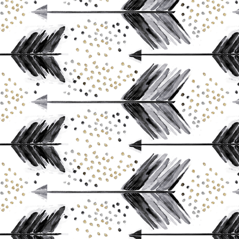A Shot in Black fabric by emilysanford on Spoonflower - custom fabric