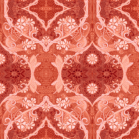 A Most Victorian World (rust) fabric by edsel2084 on Spoonflower - custom fabric