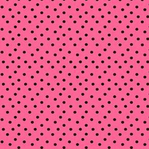 Bubblegum Pink Black Dots