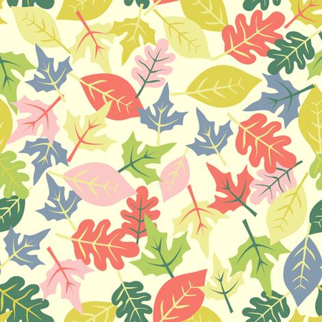 autumn leaves  fabric by irrimiri on Spoonflower - custom fabric