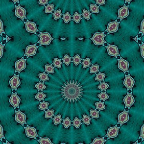 Kaleidescope 3360 trimmed solar repeat turquoise d0002