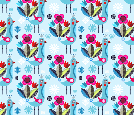fancy pants Peacock fabric by ellengiggenbach on Spoonflower - custom fabric