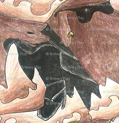 Color Pencil Moose Tessellation