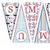 Summer Banner Pennant Nautical