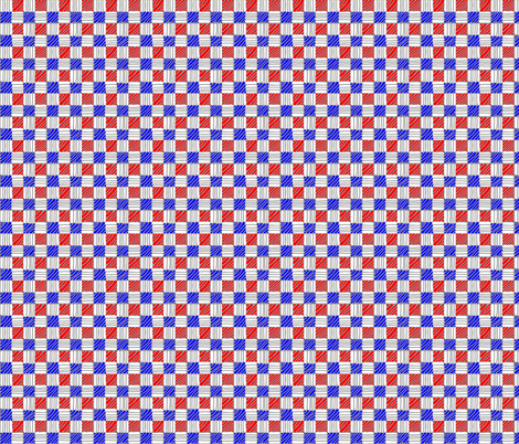 Red White Blue Gingham fabric by pd_frasure on Spoonflower - custom fabric