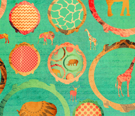 look at the animals fabric by creativeqube_design on Spoonflower - custom fabric