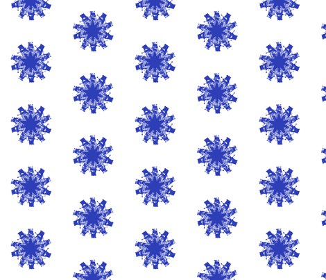 Exterminate Daisy Blue fabric by costumewrangler on Spoonflower - custom fabric