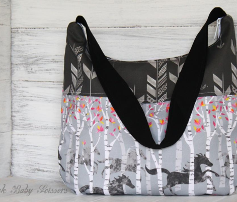 Herringbone Arrow in Charcoal
