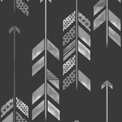 Herringbone Arrow in Charcoal
