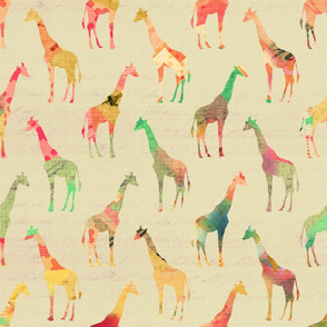 colored giraffe