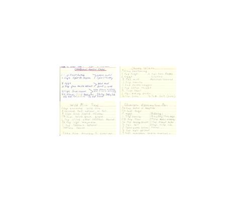 Grandma_s_Recipes-ed fabric by kristinaf on Spoonflower - custom fabric