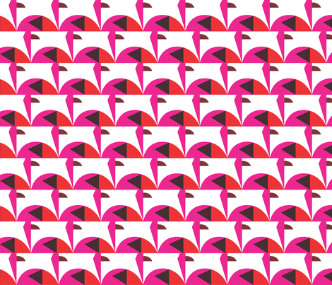 Flamingo  fabric by rachelee_design on Spoonflower - custom fabric