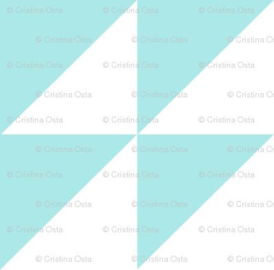 triangles aquamarine