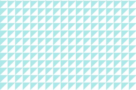 triangles aquamarine fabric by cush_barcelona on Spoonflower - custom fabric