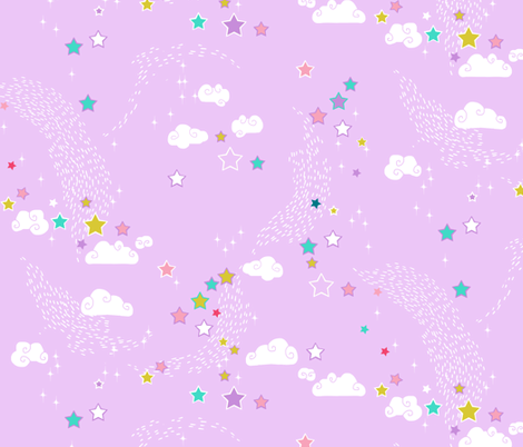 Candy Stars - coordinate fabric by nouveau_bohemian on Spoonflower - custom fabric