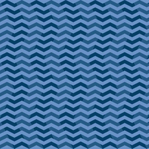 twilight chevron ripples in blue