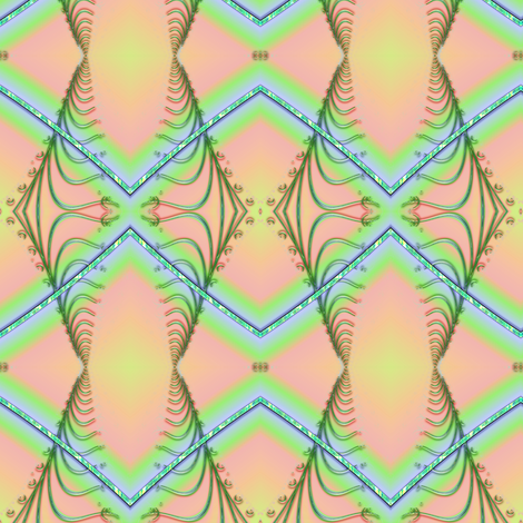 Zigzag Pastel Rainbow fabric by eclectic_house on Spoonflower - custom fabric