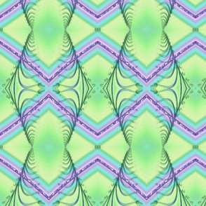 Zigzag Pastel Rainbow, Green