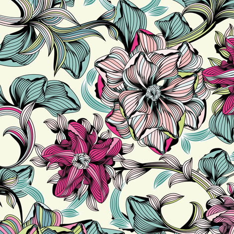 Enchanted Journey fabric by sabine_reinhart on Spoonflower - custom fabric