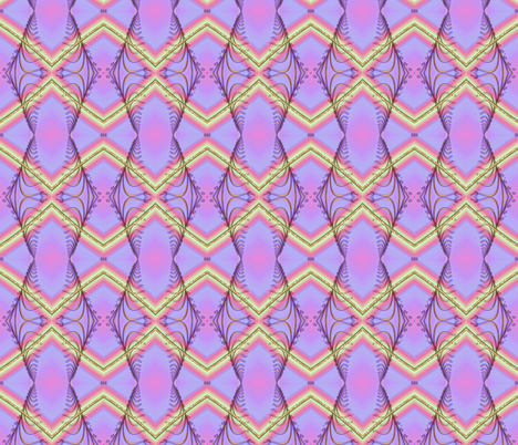 Zigzag Pastel Rainbow, Purple fabric by eclectic_house on Spoonflower - custom fabric