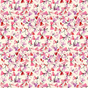 Cork Printed Pink and Purple Butterflies