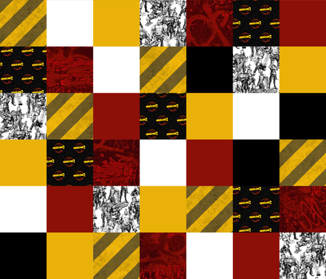 Borderlands 2 Cheater Quilt fabric by the_little_one on Spoonflower - custom fabric