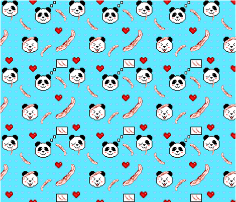 Pandas Love Bacon fabric by forgotten_fortune on Spoonflower - custom fabric