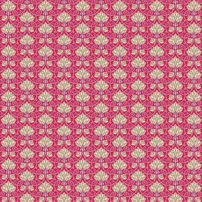 Lotus - red, blue and green - SMALL PATTERN