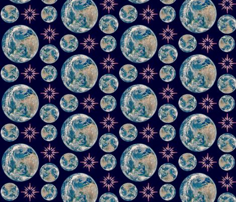 Tumbling Earth fabric by robin_rice on Spoonflower - custom fabric