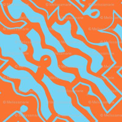 Ikat orange and aqua-ed-ed